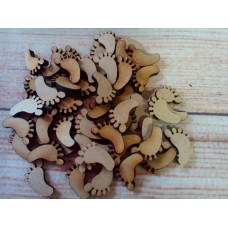 Laser Cut baby feet 20mm Pack of 25